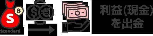 利益(現金)を出金