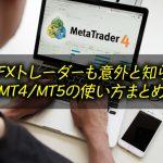 XM MT4とMT5の使い方<比較&インジケータ紹介>